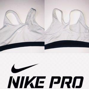 Nike Pro Dri Training Racerback White Sports Bra